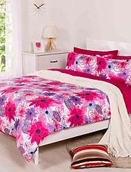 3 Piece Printed Duvet Cover  Set - Super Soft Classic Print High Quality 100% Premium Cotton Hypoallergenic Set