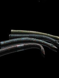 "6 pc Esche morbide / Esca Esche morbide Marrone / Grigio scuro / Verde scuro / Muschio grigio 7.7 g/5/16 Oncia,150 mm/6"" pollice,Silicone"
