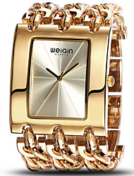 WEIQIN® Women's Luxury Brand Waterproof Silver and Gold Women's Bracelet Watches Cool Watches Unique Watches Fashion Watch