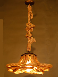 American Pastoral Village Restaurant Hall Coffee Rope lamp Retro