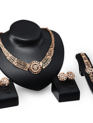 Jewelry Sets 14k Rose Gold Plated Austrian Crystal Ancient Egyptian Culture Necklace Bracelet Earrings Ring Sets Jewelry