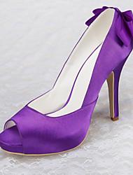 Women's Wedding Shoes Heels / Open Toe Sandals Wedding / Party & Evening / Dress Purple / White