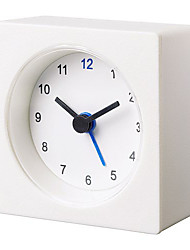 Basic Economical White Vackis Alarm Clock