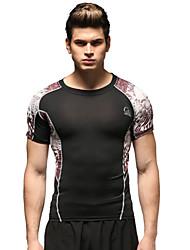 Vansydical® Men's Running Tops Running Breathable Black Sports Wear