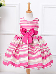 Girl's Cotton Spring Summer Fashion Stripes  Ball Gown Princess Dress