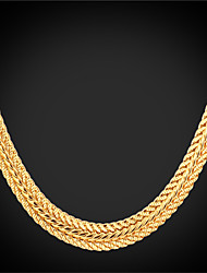Vogue New Hot Vintage Bracelet Chain for Women Men 18K Real Gold Platinum Plated Jewelry High Quality 55CM 22''