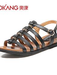 sandálias de couro das mulheres aokang® - 132823493