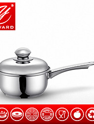 1.4QT 16cm Stainless Steel Saucepan Long Handle Milk Pot With Stainless Steel Lib Soup Pots