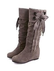 Черный / Желтый / Серый - Женская обувь - Для прогулок / На каждый день - Дерматин - На плоской подошве - Модная обувь - Ботинки