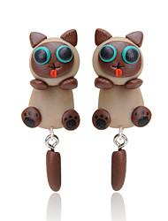 Z&X® Fashion Cute  Animal Bear Silicone Earring Stud Earrings Daily / Casual 2pcs