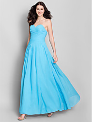 Lanting Bride® Ankle-length Chiffon Bridesmaid Dress - A-line Sweetheart with Criss Cross