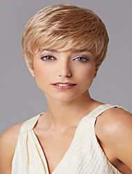 High Quality  European Lady Women Wave  Wigs Blonde Of Syntheic Wig