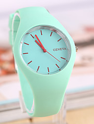 Women's Watch L.WEST Fashion Candy Color The Silicone Belt Quartz Watch Cool Watches Unique Watches