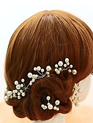 Women's Flower Girl's Alloy Imitation Pearl Headpiece-Wedding Special Occasion Hair Pin 5 Pieces