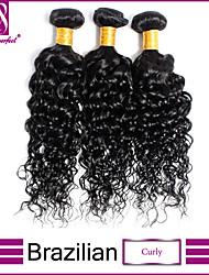 1Pcs/Lot Brazilian Curly Hair Weave 100% Unprocessed Brazilian Virgin Hair Curly Hair Weft