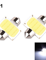 YOBO 3W 350-380LM Festoon 31MM 1D COB LED Light for Car Steering Light Bulb / Reading Lamp - (2 PCS /DC 12V)