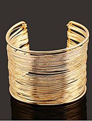 Goud / Zilver / Legering Dames Cuff armband Armbanden Geen Steen