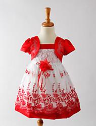 Vestido Chica de - Verano / Primavera / Otoño - Poliéster - Rosa / Morado / Rojo