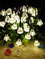 New Product 6.5M 30LED Diamond Shape Solar Christmas Home Decor String Lights(30LED-Warm white)