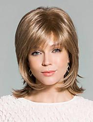 superbe qualité humaine main remy vierge liée top capless mi-longues perruques de cheveux