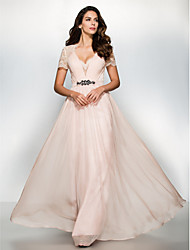 TS Couture® Formal Evening Dress A-line Sweetheart Floor-length Chiffon / Lace with Lace