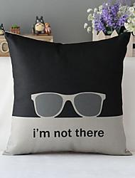 "43cm*43cm 17""*17"" Poster Cotton / Linen Cotton&linen Pillow Cover / Throw Pillow With No Insert"