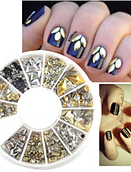 Silver/Gloden Rivet Nail Jewelry Decoration