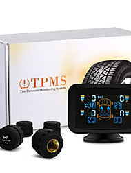 auto auto TPMS bandenspanningscontrolesysteem draadloze 4 sensoren lcd-display