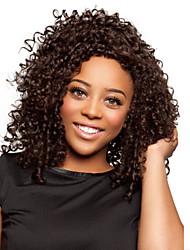moda áfrica cabelo encaracolado preto natural peruca sintética