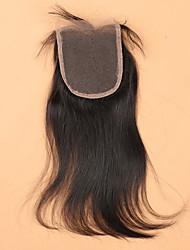 7a economiche della chiusura del merletto brasiliano nodi candeggiati capelli vergini, 4x4 chiusure dei capelli umani brasiliani di