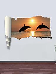 Животные / Романтика / Пейзаж / Геометрия / фантазия Наклейки 3D наклейки , PVC
