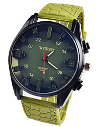 Mens Watches Fashion Leisure Silica Gel Quartz Watches Montre Homme Wrist Watch Cool Watch Unique Watch