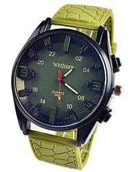 Мужской Наручные часы Кварцевый Секундомер Кожа Группа Черный / Зеленый бренд-