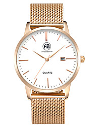 AIBI Men's Wrist watch Calendar Water Resistant / Water Proof Quartz Stainless Steel Band Luxury Rose Gold