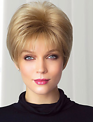 Beautiful Crisp Virgin Remy Human Hair Hand Tied -Top Short Straight Capless Woman's Wig