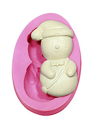 Fondant Cake Decorating Tools Snowman Shape Christmas Silicone Mold For Cupcake Candy Chocolate Clay Soap Arts & Crafts