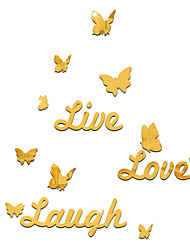 Live Love Laugh DIY Mirror Acrylic Wall Stickers Wall Decals