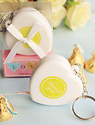 Heart-Shaped Tape Measure Key chain Baby Shower Favors