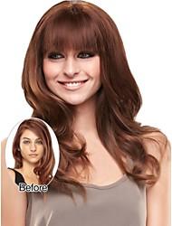 recta alta mejor fibra temperatura r pelucas plena explosión el flequillo postizo para las mujeres para la señora