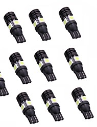 10PCS T10-4SMD 5050 +1COB   for Wide Lamp, Dome Light, Door Lights, Tail Lights, Side Turn Signal