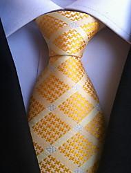 Men Wedding Cocktail Necktie At Work Orange Beige Tie