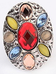 Bohemian Hot Precious Stones Inlaid Circular Statement Rings