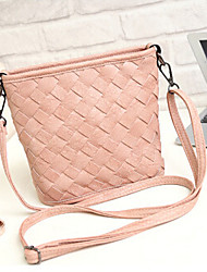 Women PU Sling Bag Shoulder Bag - Pink / Green / Gray / Black