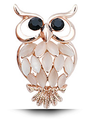 New Fashion Lady Owl Diamond Brooch