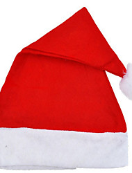 5PCS Non-woven Red Santa Claus Adult Children Hats Christmas Decorations Gift
