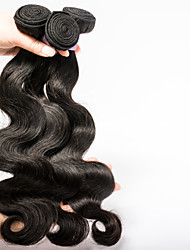 Indian Temple Virgin Hair Bundles Mixed Length 3pcs/lot Hot Sell Wet And Wavy Hair Weaves Natural Black Color