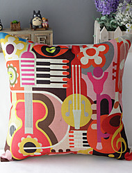 "43cm*43cm 17""*17"" Music Cotton / Linen Cotton&linen Pillow Cover / Throw Pillow With No Insert"