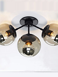 Wall Sconces / Glass ball 3Lights/Outdoor / Indoor Wall Lightsl Rustic/Lodge Metal