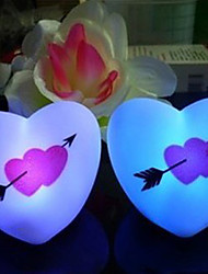 7.5*7CM Christmas An Arrow Through A Heart Colorful Romantic Led Small Night  Light LED Lamp