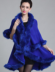 Women's Going out Vintage Cloak/Capes Winter Faux Fur Medium